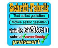 Aufkleber selbst gestalten - SCHRIFT-FABRIK.DE