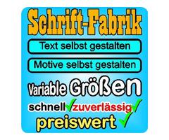 Wunschtext Schaufensterbeschriftung online gestalten